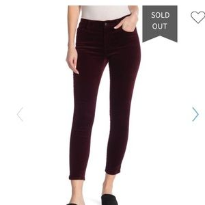 Joe's Jeans Velvet Ankle Skinny Ankle Pants